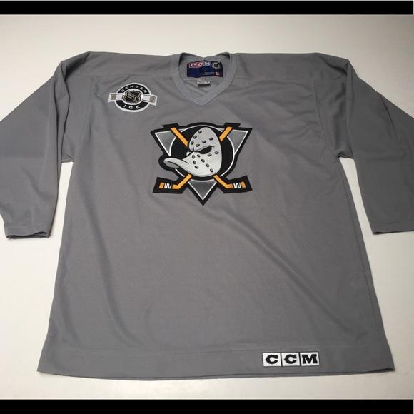 CCM Other - CCM Anaheim Mighty Ducks Gray Hockey Jersey 272e6595a16